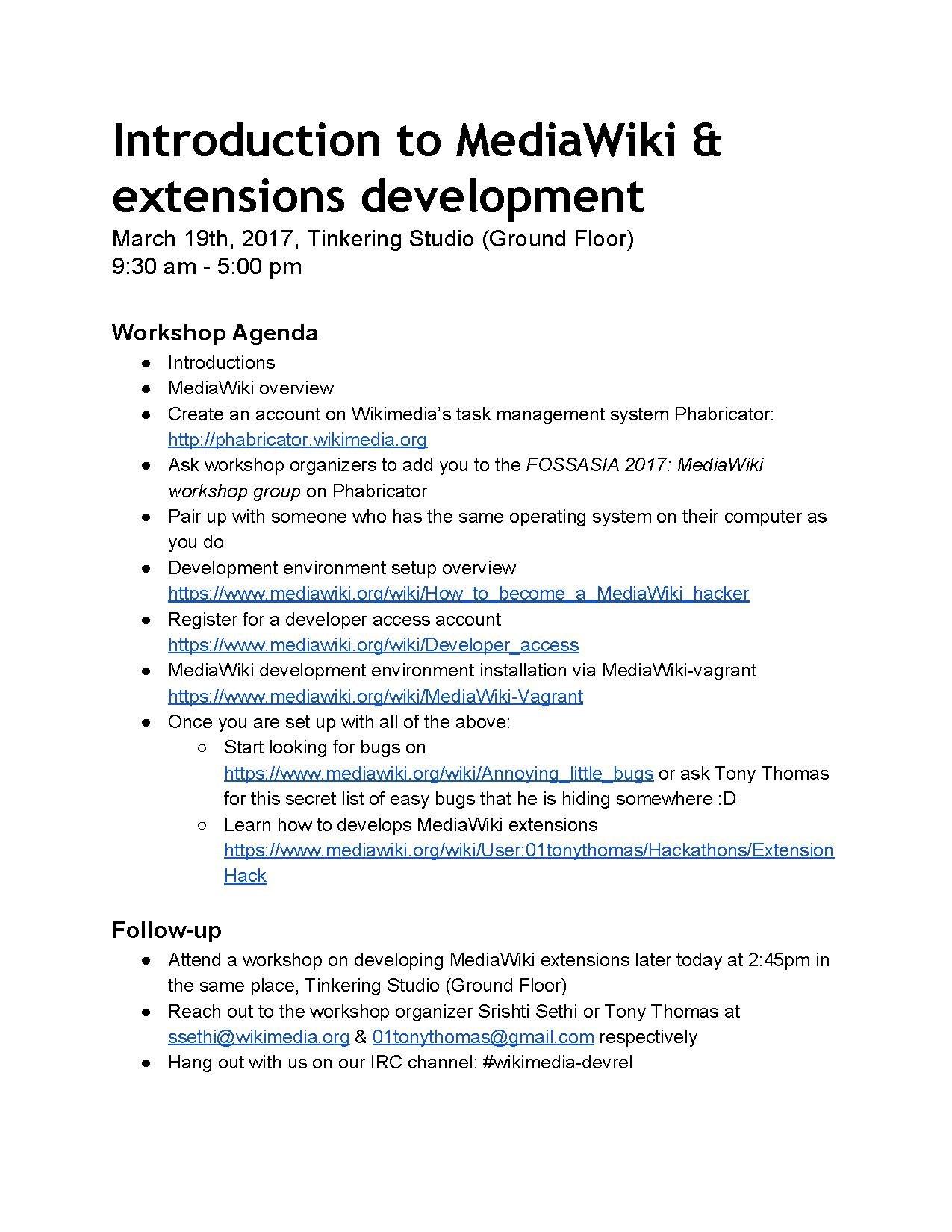 File:Wikimedia workshop agenda for FOSSASIA pdf - Wikimedia