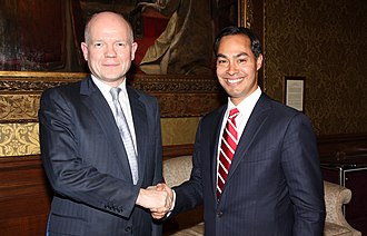 Julian Castro - Secretary of State for Foreign and Commonwealth Affairs William Hague meeting Castro in London in 2012