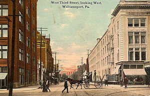 Williamsport, Pennsylvania - West Third Street looking west, c. 1910
