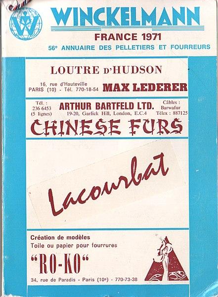 File:Winckelmann 1971 Annuaire des pelletiers et fourreurs, France (fur directory).jpg
