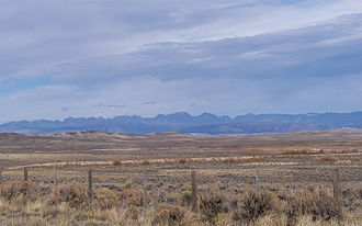 Sublette County, Wyoming - Wind River Range from US 191 just south of Daniel, Wyoming