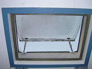 Mosquito net - Window with mosquito netting.