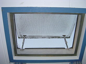 Window screen - Image: Window with insect screen