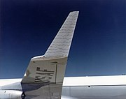 Winglet with attached tufts of an KC-135A