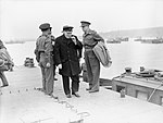 Winston Churchill in Arromanches, France, 21 To 23 July 1944 A24832.jpg