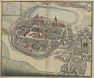 Wołów - Wohlau around 1750