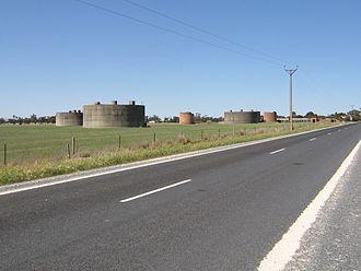Wolseley, South Australia - World War II fuel tanks of No. 12 Inland Aircraft Fuel Depot