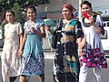 Women Crossing Street - Through the Taxi Window - Kokand - Uzbekistan (7537012622).jpg