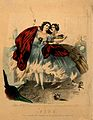 Women wearing crinolines set on fire, ca. 1860, lithograph Wellcome V0048935.jpg