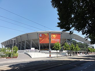 The Rudolf-Harbig-Stadion Womens' World Cup Dresden 2011 USA vs North Korea Stadium 3.jpg