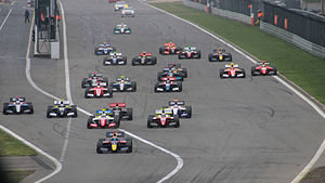 2014 Formula Renault 3.5 Series - The start of the first race at the Nürburgring, the sixth round of the championship.