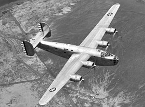 Consolidated B-24 Liberator - XB-24 in flight