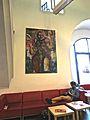 XI.Blick in die Marstall-Mensa, im ältesten mittelalterlichen Gebäude Heidelbergs, auf Innenausstattung und Architektur 1403.jpg