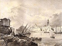 Foto ottocentesca del porto di Bari.