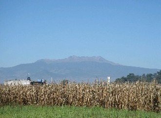Toluca Valley - Looking at the Nevado de Toluca from a cornfield