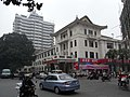 Xinhui 新會城 愛民路 Aimin Lu view 華僑大廈 Overseas Chinese Hotel motor car sidewalk parking 中心路 Zhongxin Lu 03.JPG