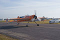 Yakovlev Yak-55M Zeek The Tumbling Tiger N360DM Taxis In 01 SNF 04April2014 (14662651241).jpg