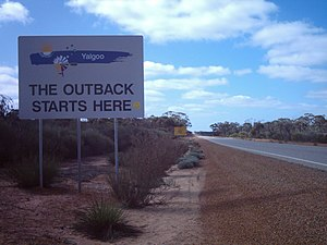 Outback - Tourism sign post Yalgoo, Western Australia