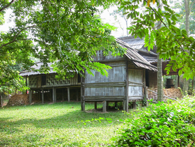 A Yao stilt house in Vietnam