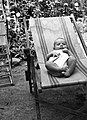 Yard, deck chair, newborn, clothes-horse Fortepan 12895.jpg