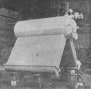 Three-drum boiler - A Yarrow boiler, with the casing removed