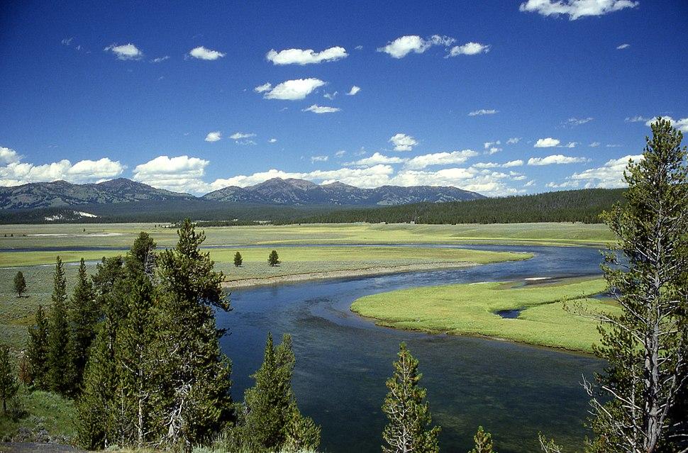 Yellowstone River in Hayden Valley