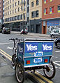 Yes campaign tricycle on Jamaica Street - geograph.org.uk - 4159565.jpg