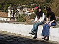 Young Women Chat on the Street - Ouro Preto - Minas Gerais - Brazil.jpg