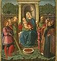 Zanobi Machiavelli - Vergine in trono con i santi Sebastiano, Andrea, Bernardino e Paolo, Lorenzo ed Agostino.jpg