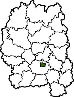 Vị trí của huyện Zhytomyr trong tỉnh Zhytomyr