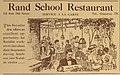 """""""Rand School Restaurant"""" """"This Socialist den..."""" 1911 ad - from, The Masses, Volume 1, Number 2 (page 20 crop).jpg"""