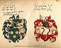 """""""Stammbuch Chistopher von Saden's auf Dubenalfen 1577 - 1618"""", from- Jahrbuch-Heraldik-1893 (page 1 crop).jpg"""