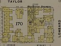 """WASHINGTON BREWERY"" on Taylor and Lombard in 1886 map detail, Sanborn Fire Insurance Map from San Francisco, San Francisco County, California. LOC sanborn00813 003-9 (cropped).jpg"