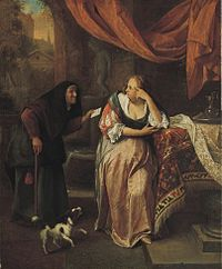 'Bathsheba' by Jan Steen, late 1660s, Norton Simon Museum.jpg