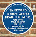 'Edward Heath memorial plaque' Broadstairs Kent England.JPG