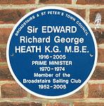 'Edward Heath memorial plaque' Broadstairs Kent England.JPG