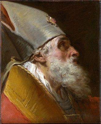 Gaetano Gandolfi - Image: 'Head of a Bishop', oil on canvas painting by Gaetano Gandolfi, Metropolitan Museum of Art