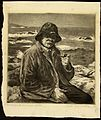 'New England Fisherman at Rest', black ink etching by Joseph Margulies.jpg