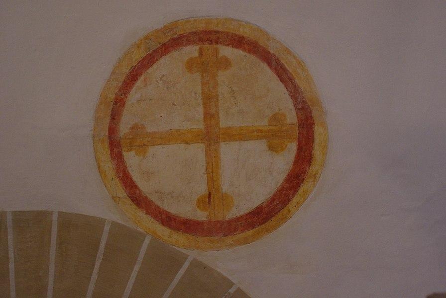 Fresque dans l'�glise Notre-Dame-de-la-Nativit� de Malay