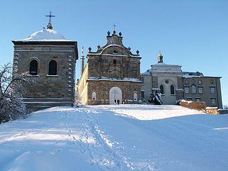 Łysa Góra - Abbey in winter.