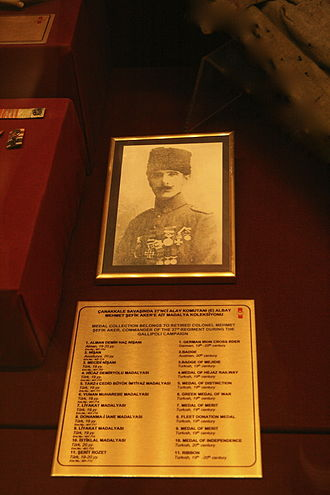 Şefik Aker - Şefik Aker's picture at the Istanbul Military Museum.