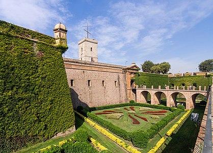 The main entrance of Montjuic Castle, Barcelona