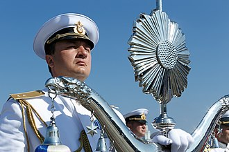 Navy Day - A Russian sailor on Navy Day in 2017.