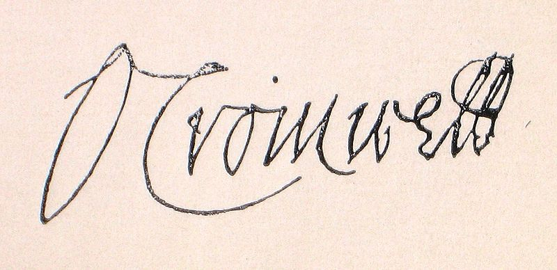 Oliver Cromwell's Signature