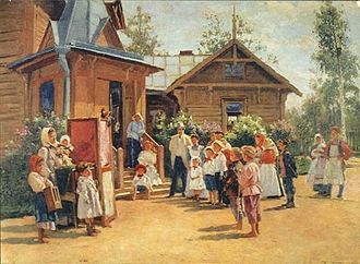 Petrushka (ballet) - Petrushka performance in a Russian village, 1908