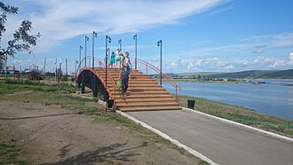 Cheremkhovsky District - Bridge on the embankment in Svirsk, Cheremkhovsky District