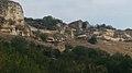 Рогожкин. Пещерный город Чуфут-Кале, вид из ущелья. Бахчисарай.jpg