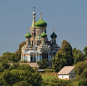 Old Believers - The Uspensky cathedral in Belaya Krinitsa (beginning of the 20th century), the oldest centre of the priestly Old Believers