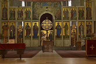 St. Mark's Church, Belgrade - Iconostasis.