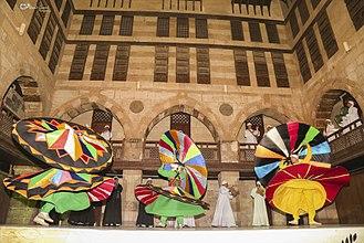 Sufism - Sufi Tanoura twirling in Muizz Street, Cairo